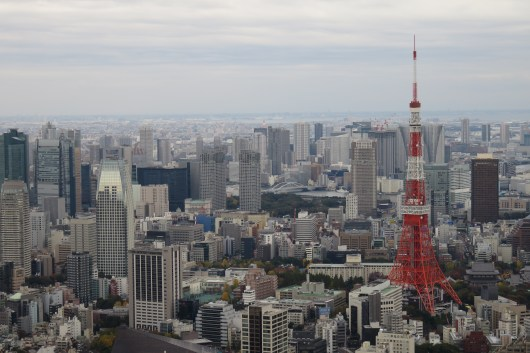 A view over the Roppongi district, Tokyo Tower to the right.