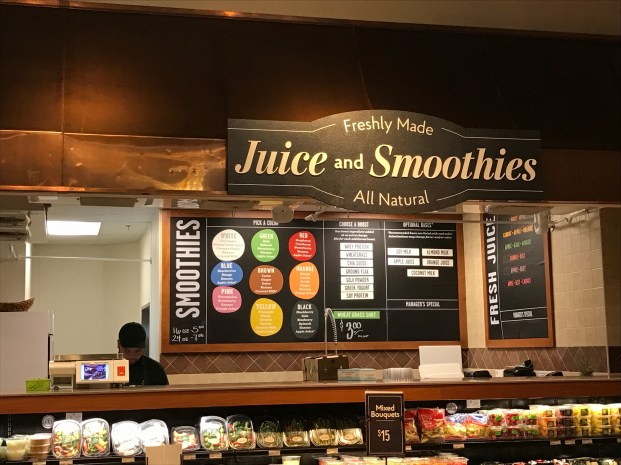 Juice & smoothies at Highwoods