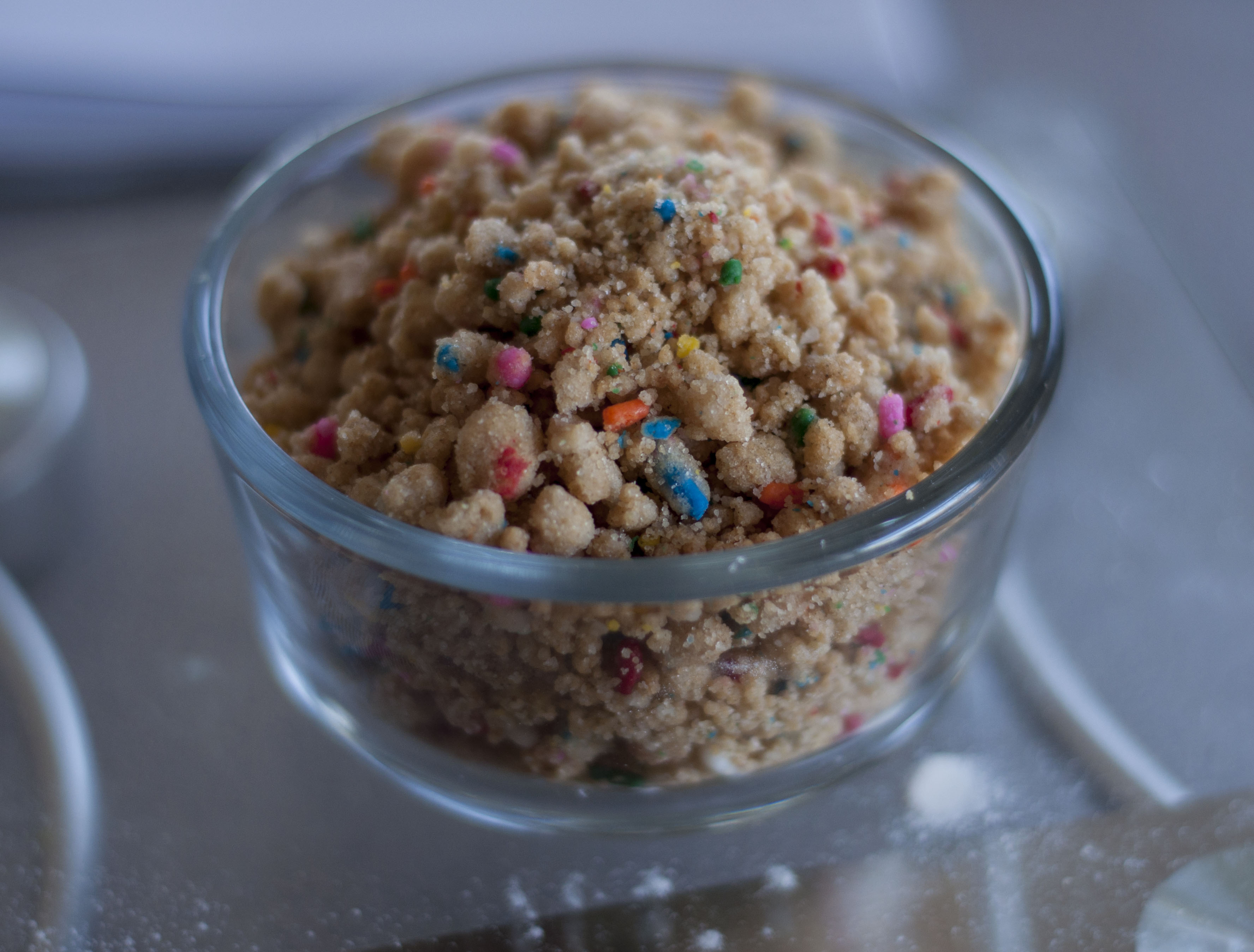 A Bowl Of Birthday Cake Crumbs