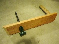 completed leg vise
