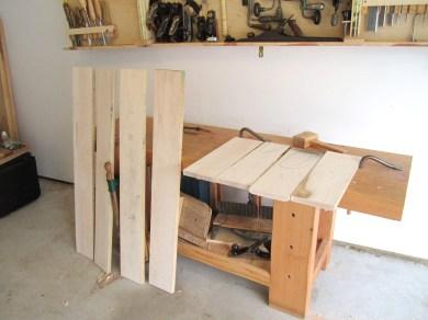 sawn rough boards