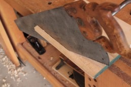 Sawing a drawer slip