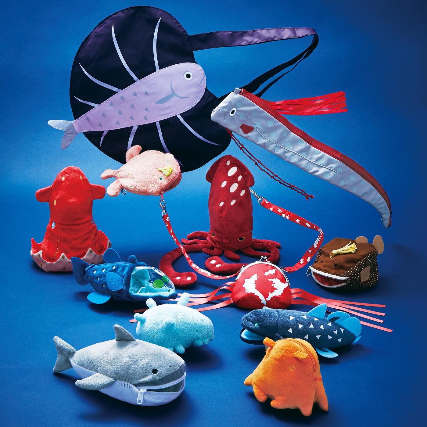 フェリシモ 深海魚 ポーチ