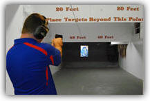 Elliott at the firing range