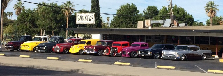 Triangle Drive In on Belmont with Classic Cars