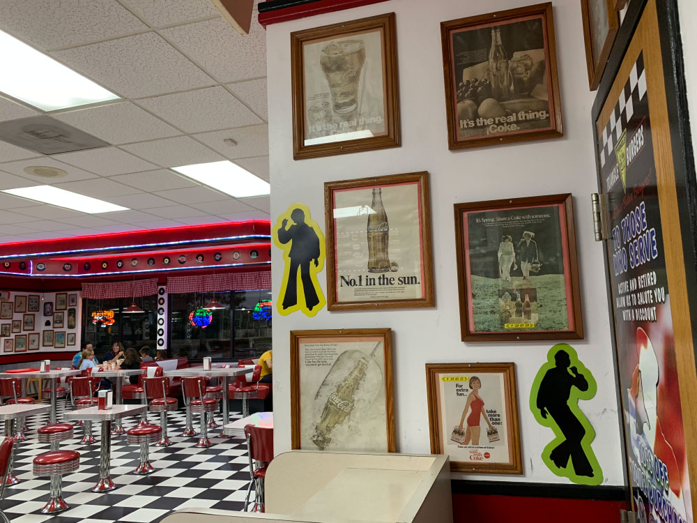 1950s Decor Diner for Burgers at Triangle Drive In