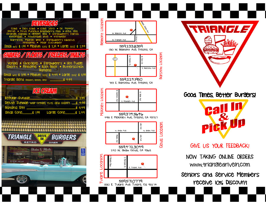 2020 Triangle Drive In Menu Page 2