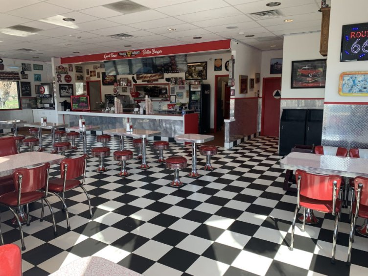 Triangle Drive In has Retro 1950's Decor