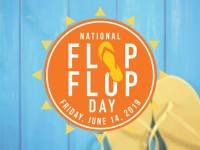 yellow flip flops. Flip flop day a Tropical Smoothie Cafe