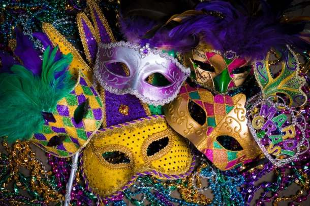mardi gras masks and beads raleigh