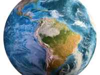 Planet Earth Continents Elements Of This Image Furnished By Nasa 3D Rendering Planet Earth Continents