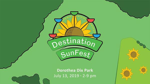 destination sunfest dix park raleigh nc sunflowers logo