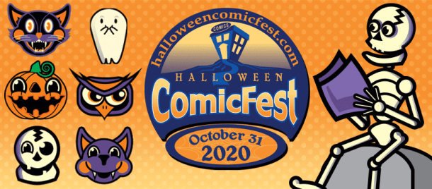 Halloween Comicfest Logo 2020 Png Halloween ComicFest   Triangle on the Cheap
