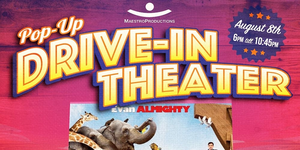 Pop Up Drive In Movie Theater In Durham Evan Almighty Triangle On The Cheap