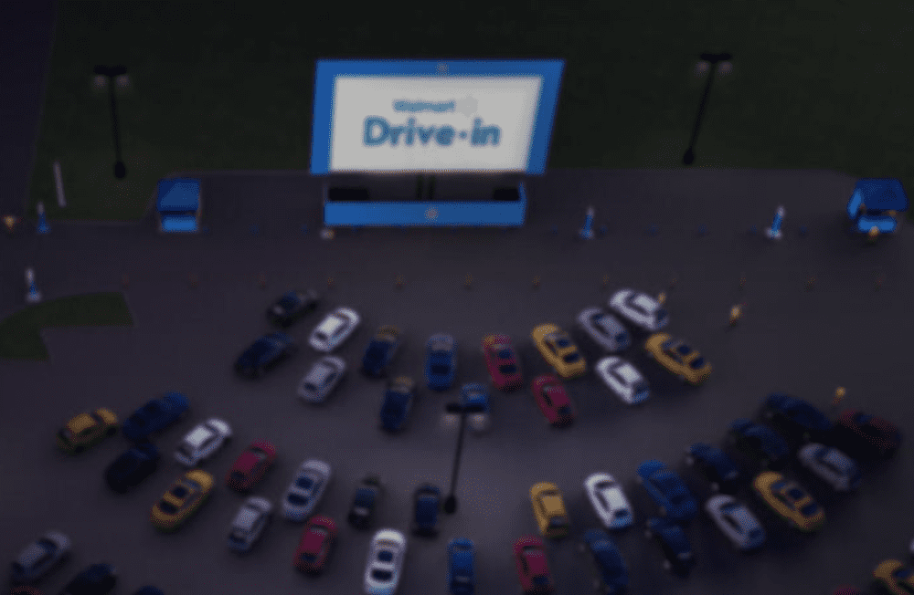 Walmart Is Transforming Parking Lots Into Drive In Movie Theaters Triangle On The Cheap