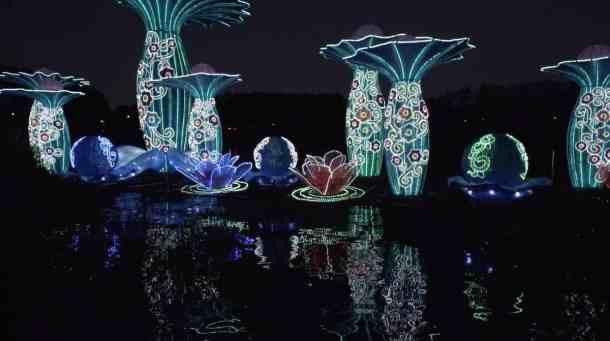 Water feature at North Carolina Chinese Lantern Festival