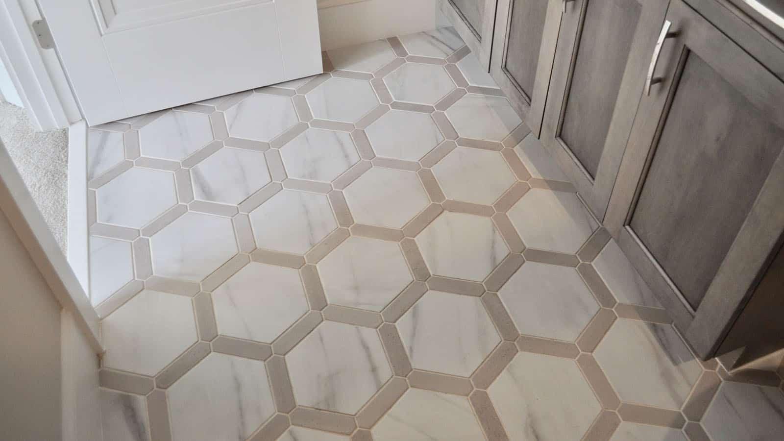 triangle tile stone