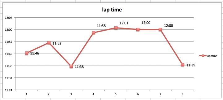 lap time graph