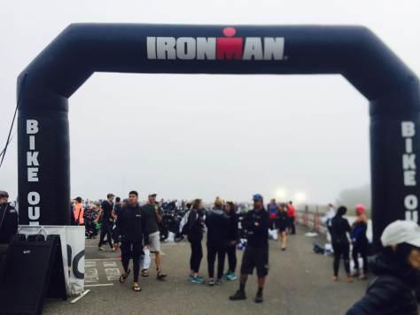 IronMan 70.3 Santa Rosa foggy start on 2018 edition