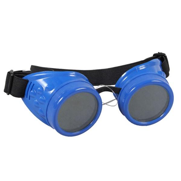 Poizen Industries Steampunk Cyber Goggles Blue