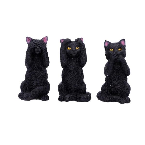 Three Wise Felines Cats Figures Confucius