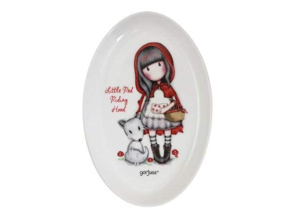 Santoro Gorjuss Trinket Tray Dish Ceramic Little Red Riding Hood