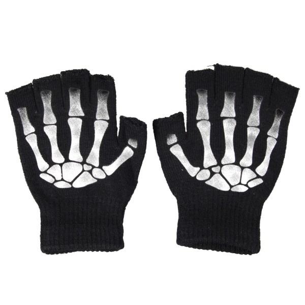 Skeleton Gloves Finger-less Poizen Industries