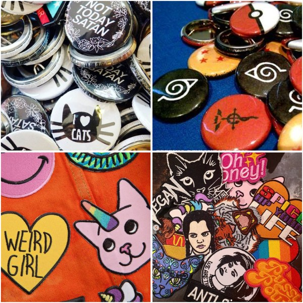 Patches, Key Chains & Pin Badges