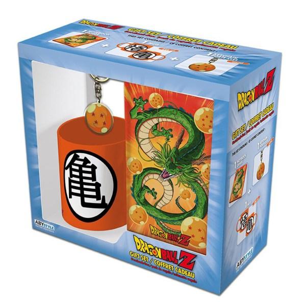 Dragon Ball Z Gift Set Goku Super Saiyan Shenron Dragon God Simple Minimalist Orange Blue Kitchenware Drinkware Notebook Stationary Key Ring Chain Manga Anime Alternative Official Merchandise Collectors
