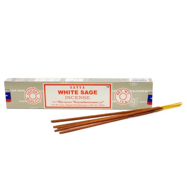 Satya White Sage Boxed Incense Sticks Cleansing Aromatherapy Fragrance Aroma
