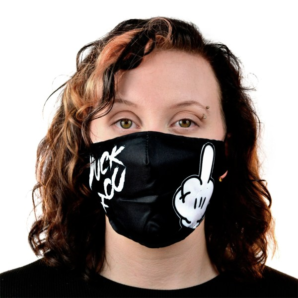 Yuck Fou Fabric Cloth Mask Face Covering Reusable Filter Innocent Clothing Cupcake Cult