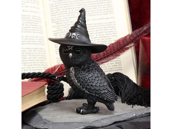 Owlocen Witch Owl Cult Cuties Cat Nemesis Now Baphomet Occult Witchcraft Familiar Spiritual Dark Spirits Figure Magic Pentagram