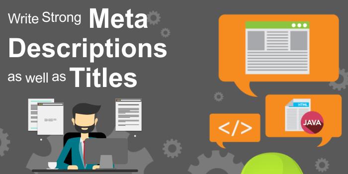 meta descriptions and titles