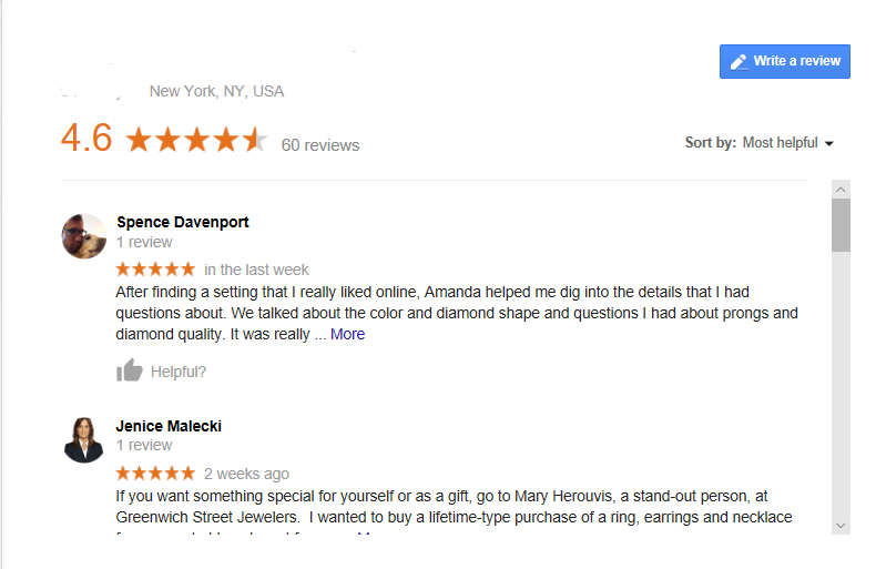 Local SEO for Jewelers reviews