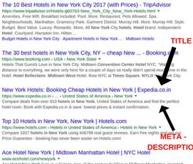 Titles and Meta Descriptions