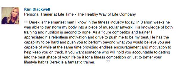 figure competition prep and personal training recommendation by kim