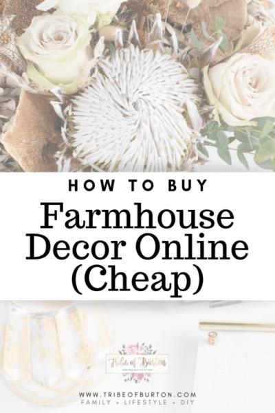 Buy Farmhouse Decor online for Cheap. #onlinedecor #farmhouse