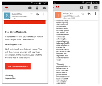 Optimized email campaigns for mobile