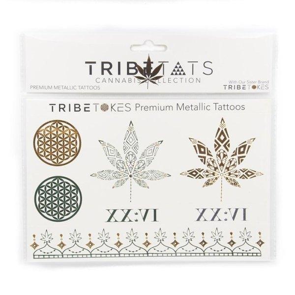 TribeTats Metallic Tattoos - Cannabis Collection