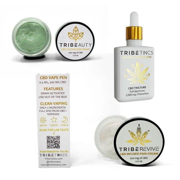Work From Home CBD Survival Bundle - Sativa Vape, Face Mask, Tincture & Pain Cream
