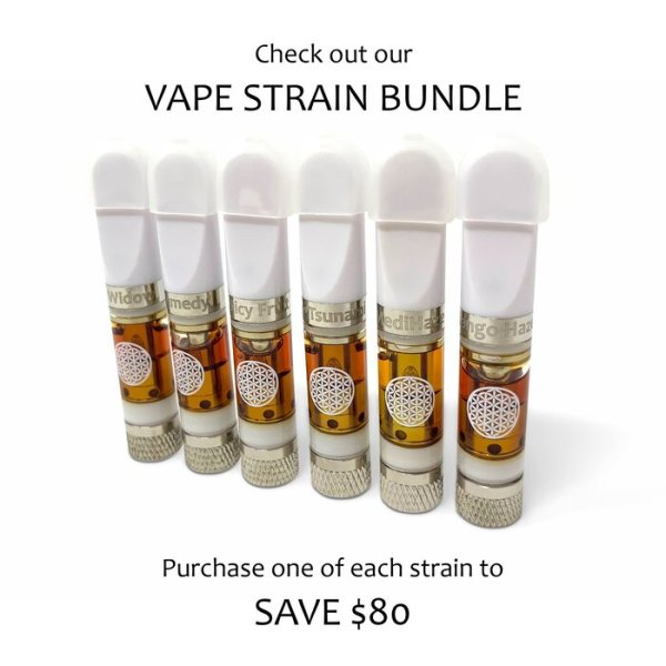 Full Gram CBD Vape Oil Cartridge (6 Strains)