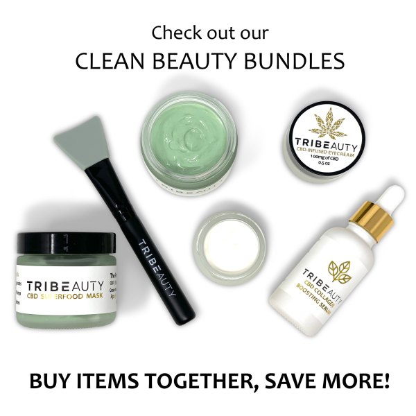 CBD Skincare Bundle - Eye Cream, Face Mask & Collagen Boosting Serum