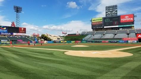 Baseball looks forward to Angels Stadium game