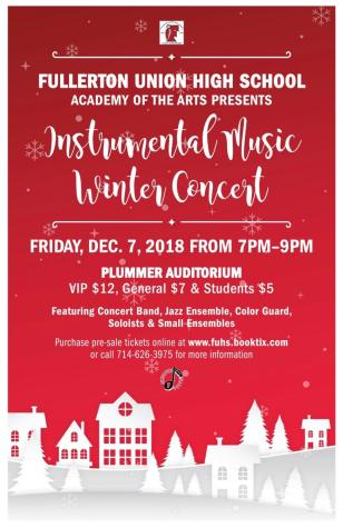 Instrumental Music Concert overcomes date change