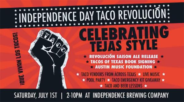 taco revelucion austin independence day