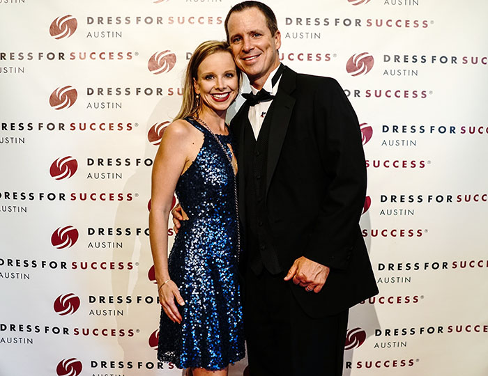 black dress soiree success austin