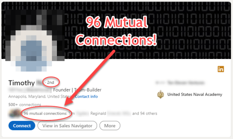 Top connection target: 96 mutual connections!