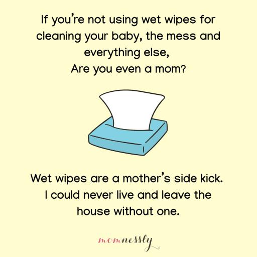 Funny mom meme wet wipes
