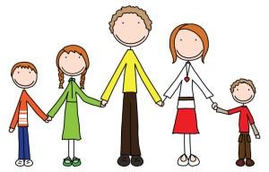 Fantasme d'une famille recomposée merveilleusement unie