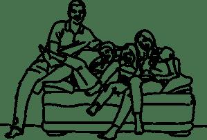 squat dans le canapé